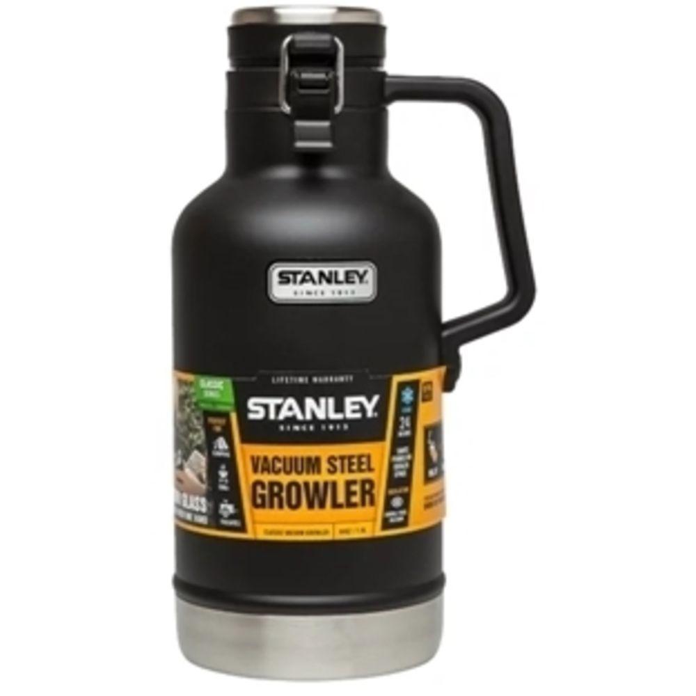 Botijão Stanley para o Dia Todo Gelado 1,9 Litros Preto Inox