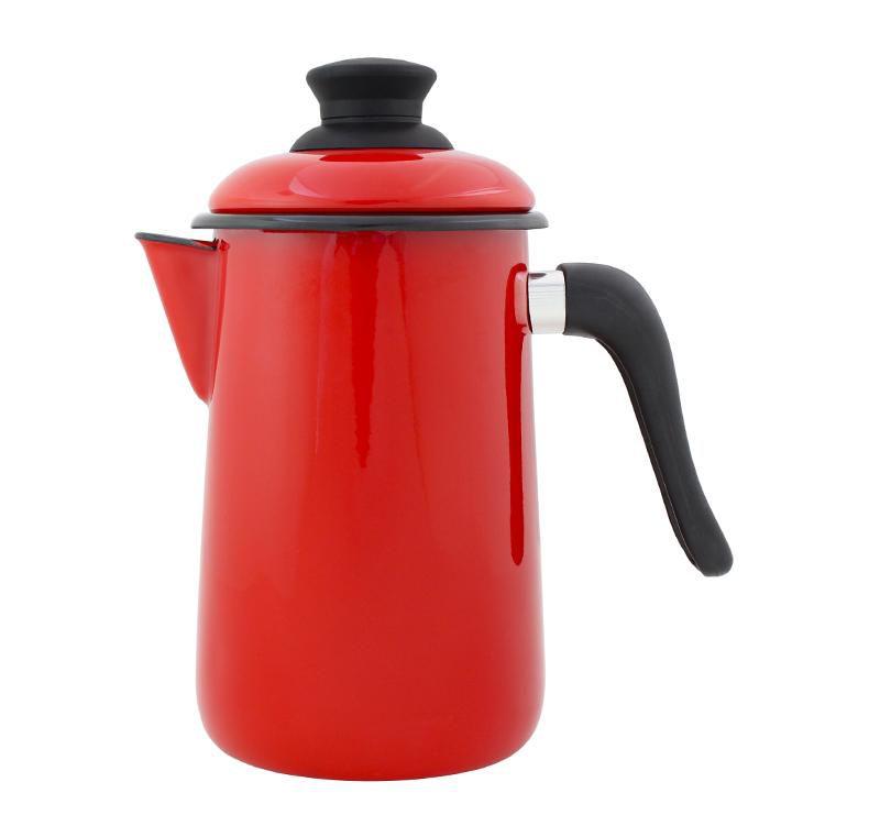 Bule para Café 14cm Vermelho Esmaltado Ewel