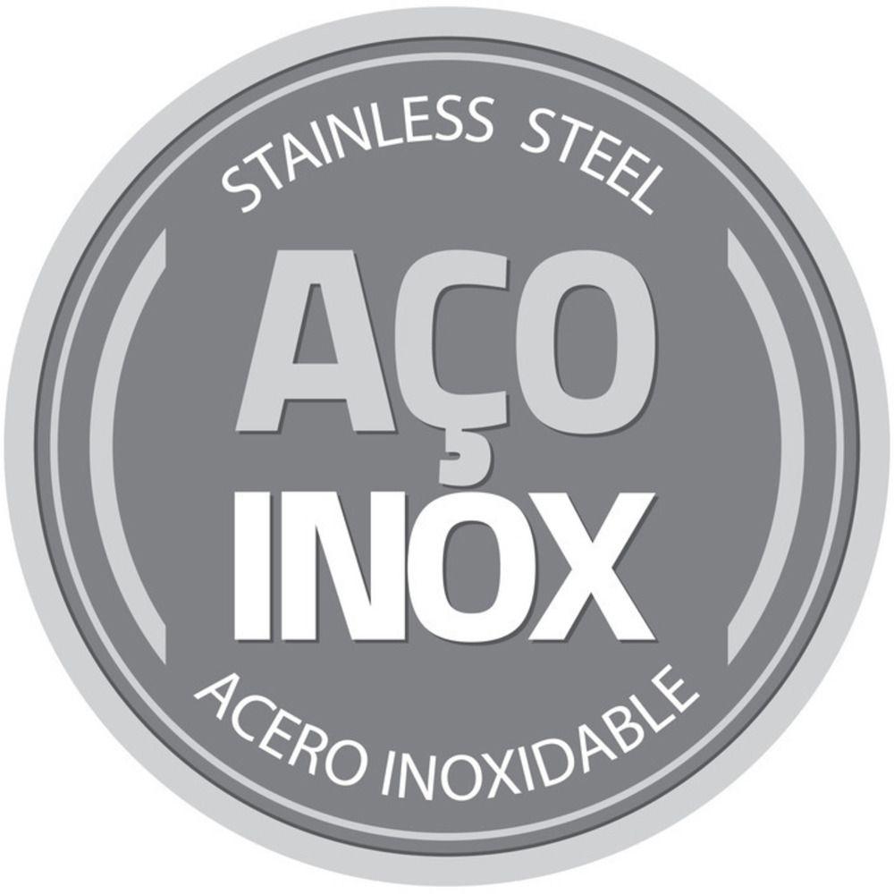 Caçarola Aço Inox Solar Silicone com Tampa de Vidro 30cm