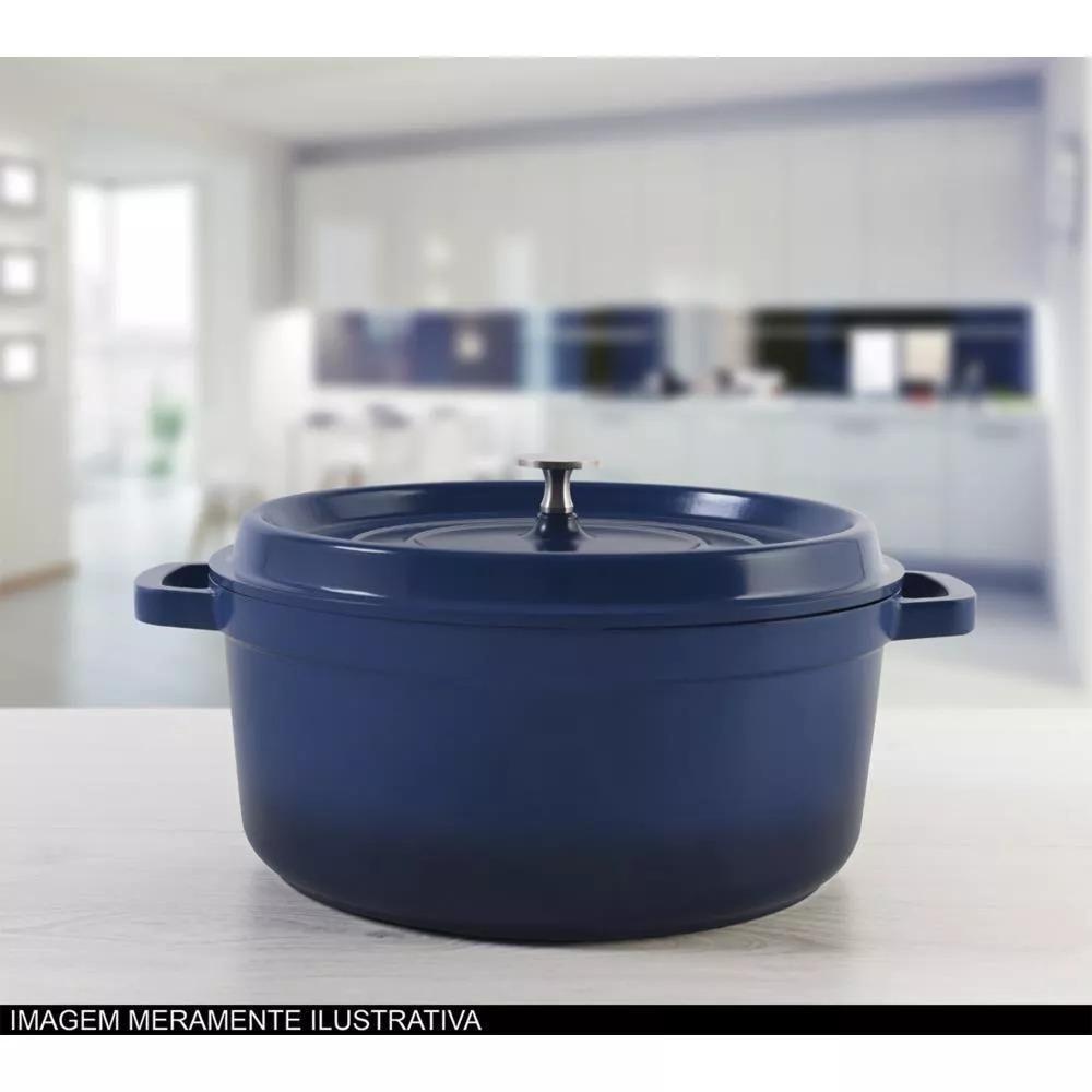 Caçarola Grand Gourmet  28 x 12,5 cm 6L Azul Brinox