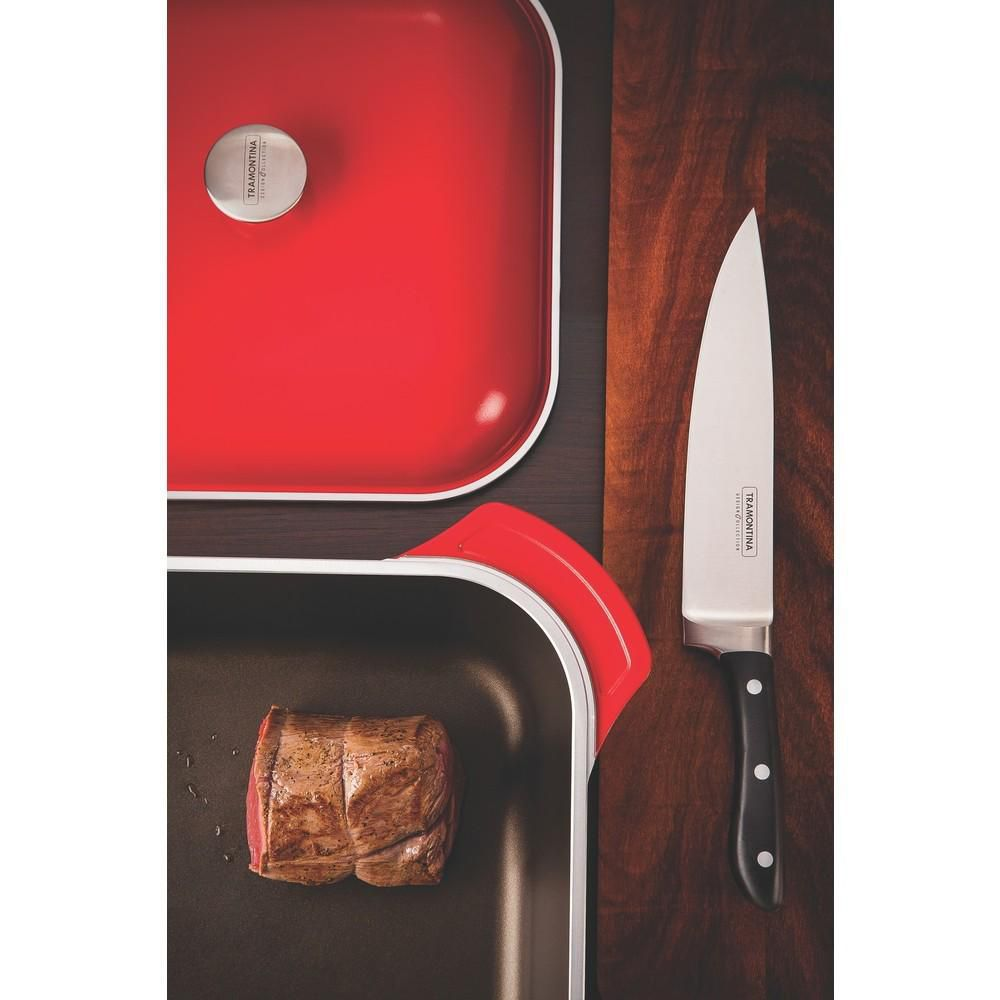 Caçarola Lyon Quadrada 28cm Vermelha Tramontina