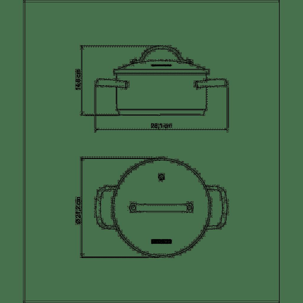 Caçarola Tramontina Indução Una Inox 20cm 2,9 Litros