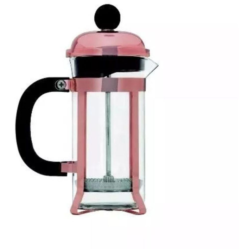 Cafeteira de Prensa Francesa Ouro Rosé 350ml Mimo