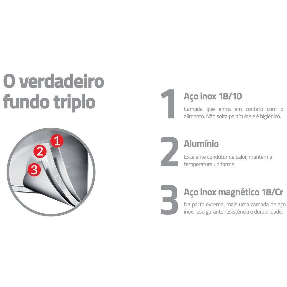 Caldeirão Tramontina com Design Moderno Fundo Triplo 28cm