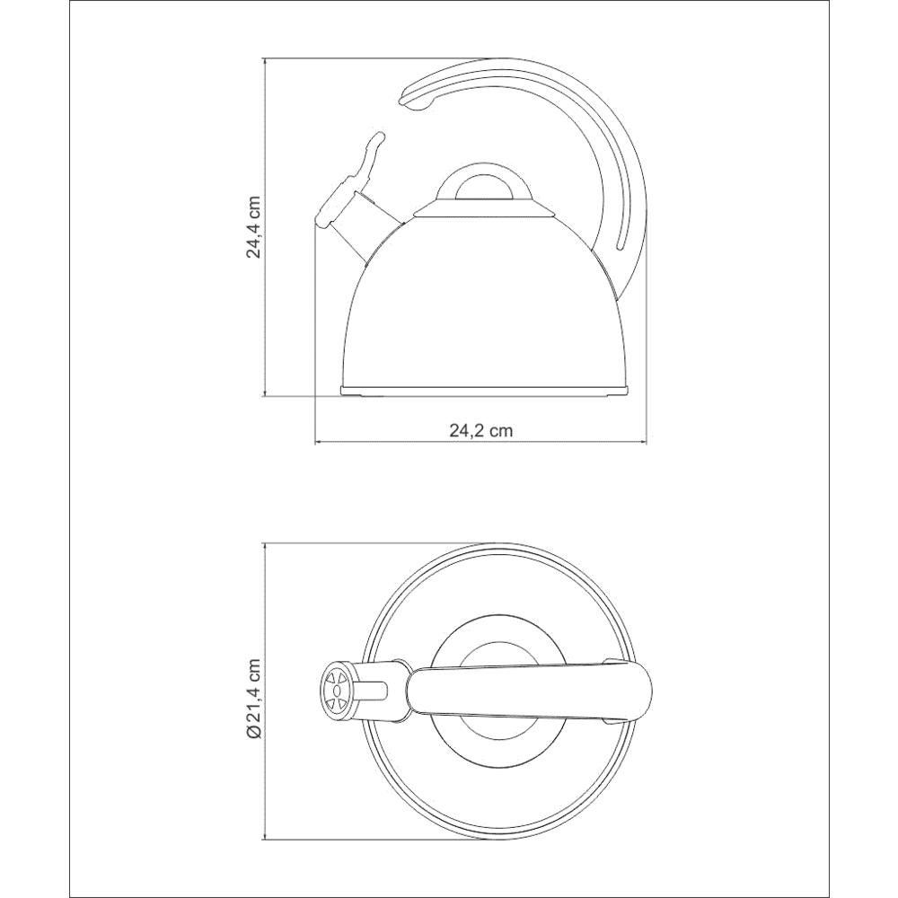 Chaleira Design Collection Tramontina 3,35 Litros Aço Inox