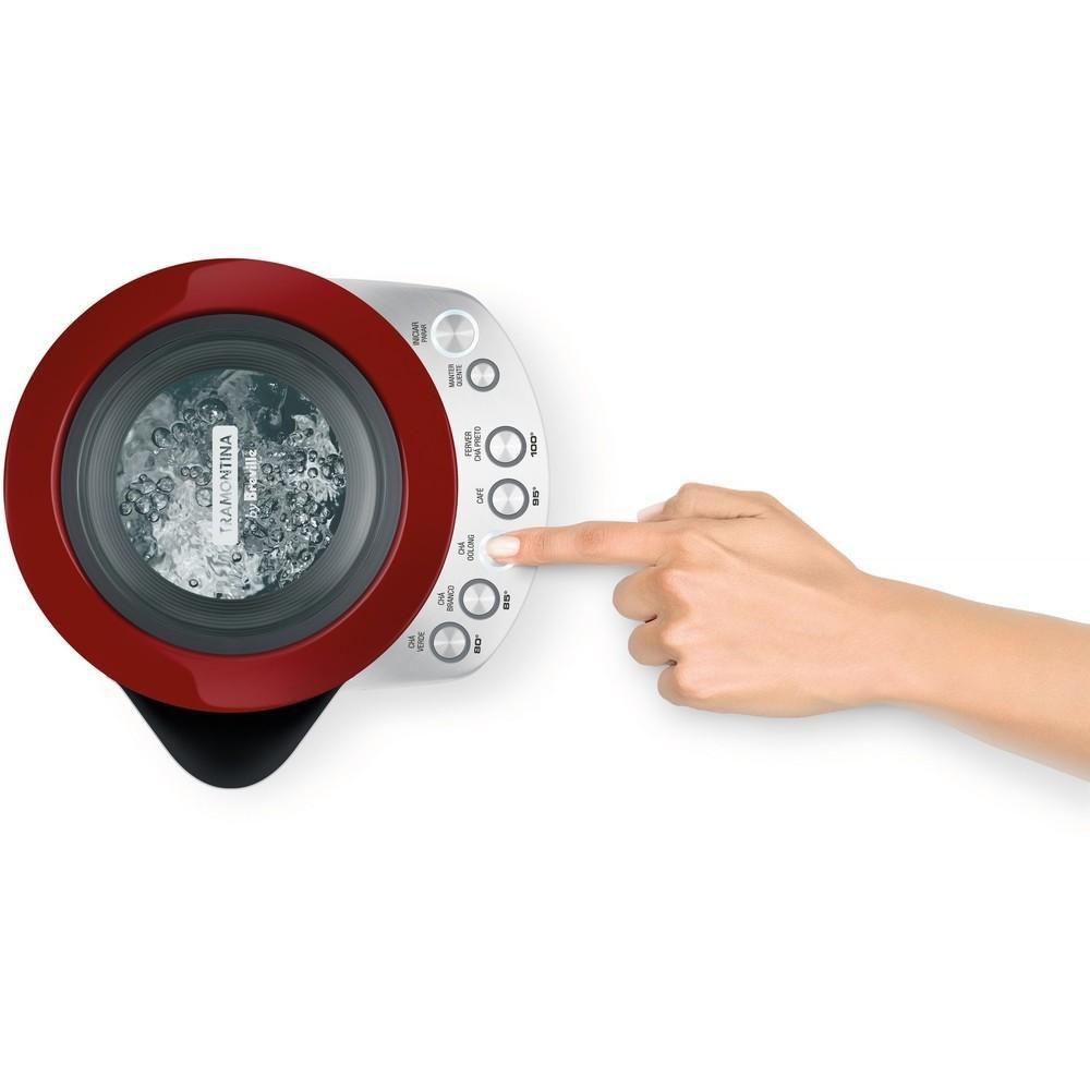 Chaleira Elétrica Smart Inox Vermelha 127v Tramontina