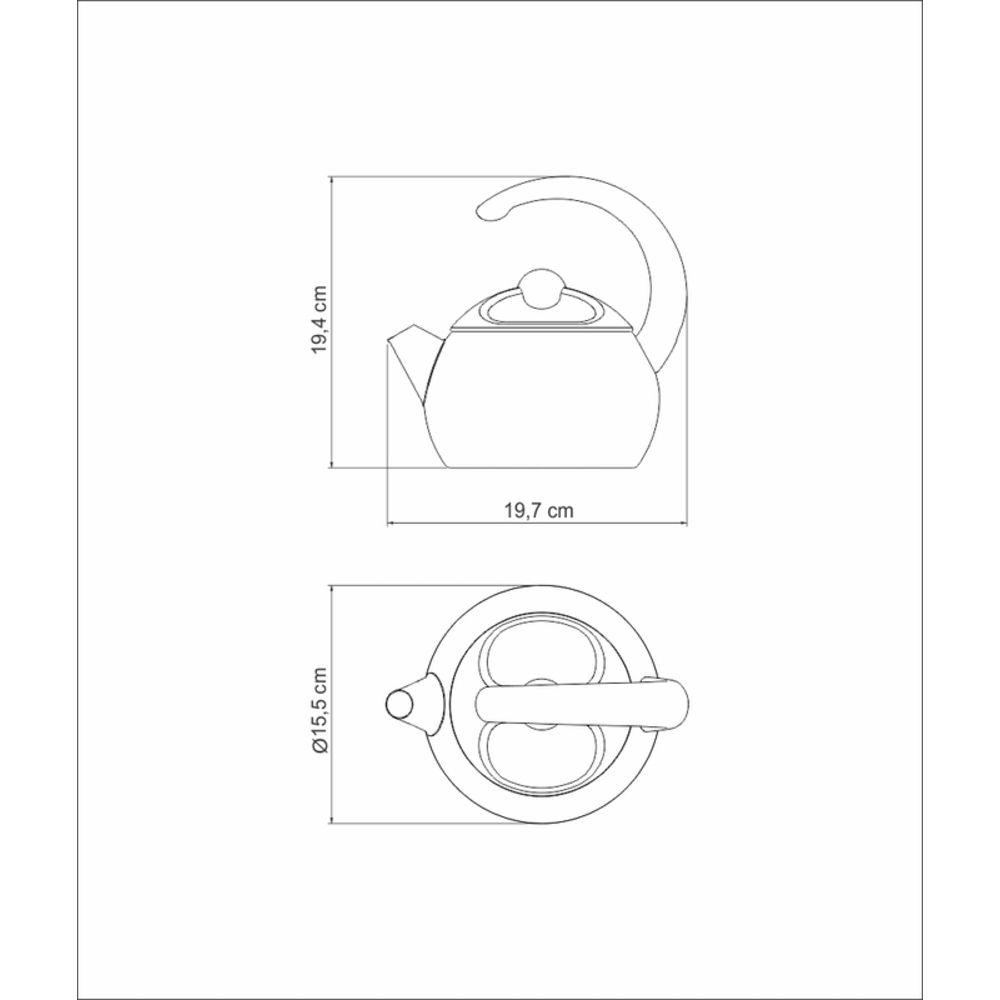 Chaleira Tramontina para Cozinhas Modernas Inox 1,3L
