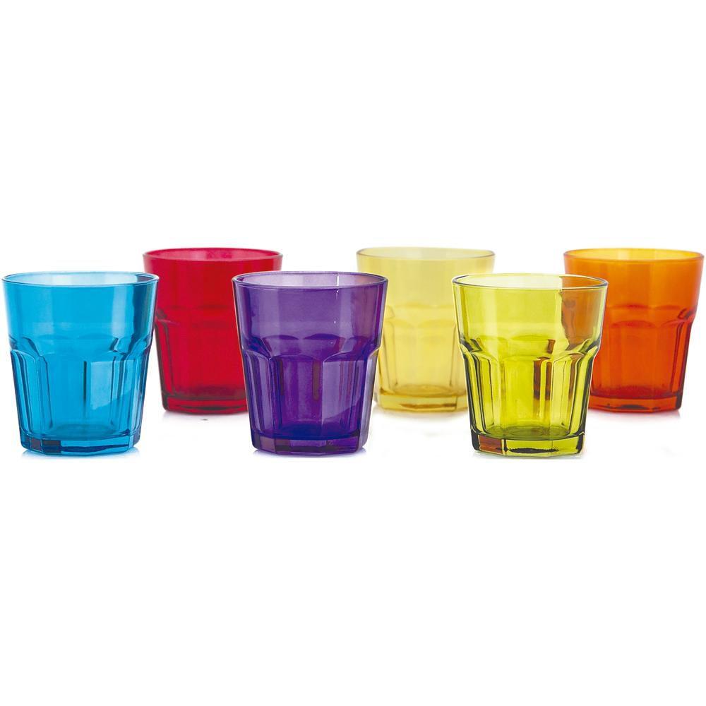 Conjunto de Copos Aras Coral Whisky 305ml 6 Peças Mimo Style