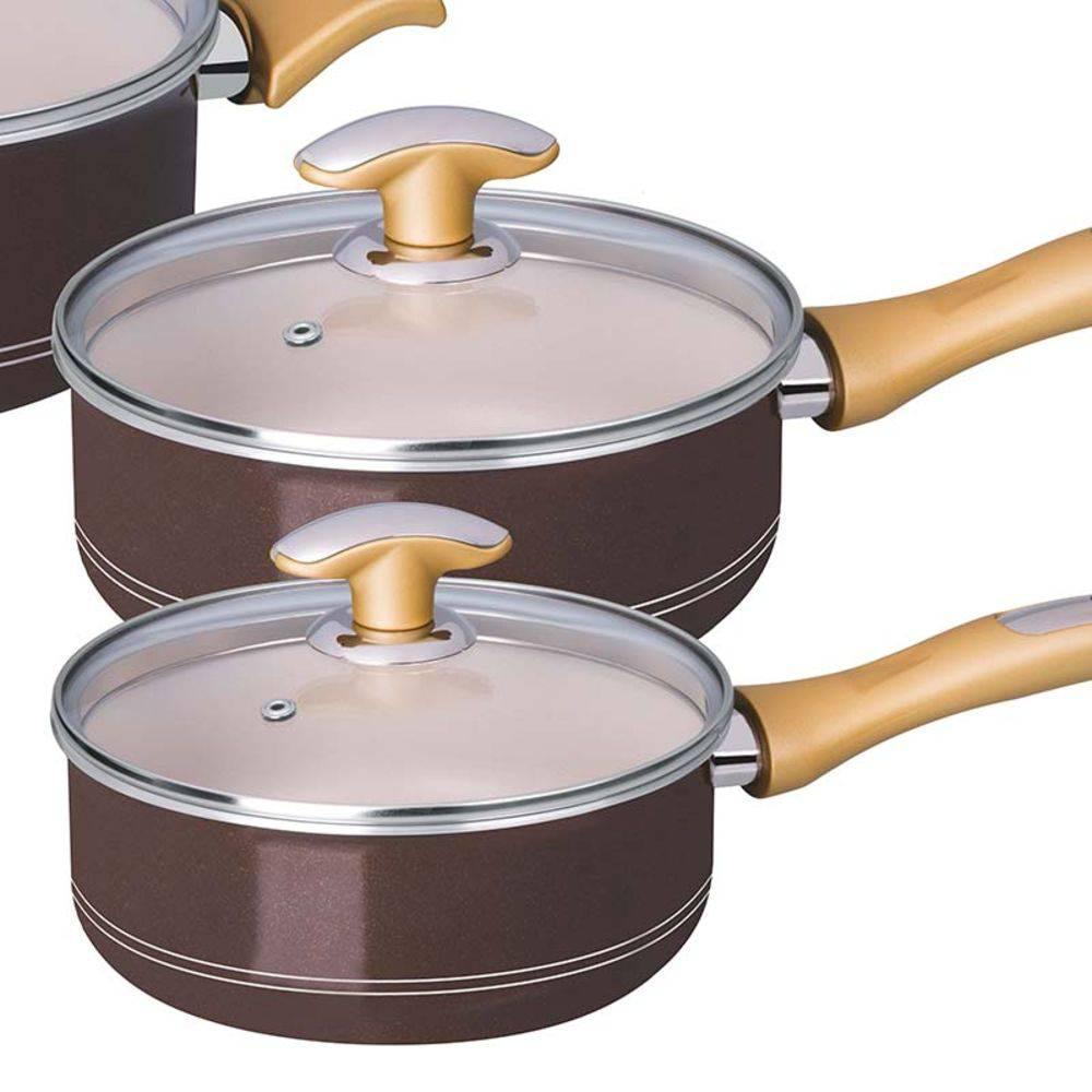 Conjunto de Panelas Antiaderente 5 Peças Tonalite Tramontina