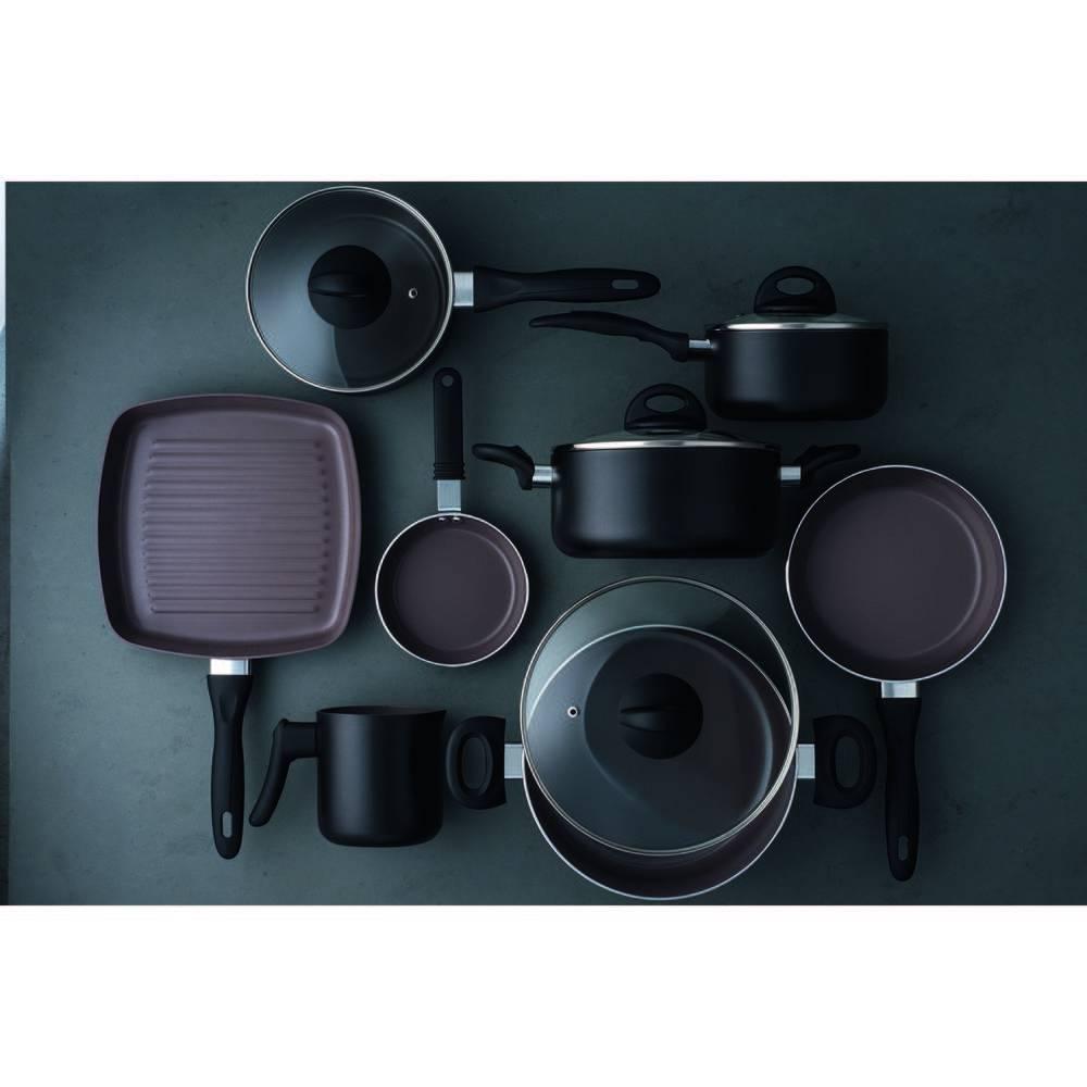 Conjunto de Panelas Ceramic Life Smart Plus 8 Peças Preto Brinox