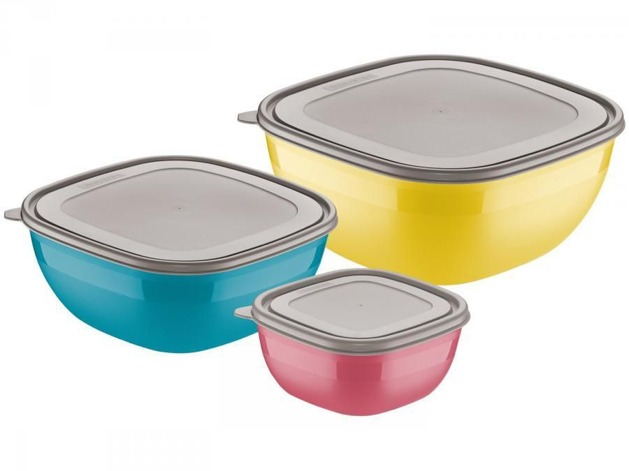Conjunto De Potes 3 Peças Tramontina - Mixcolor