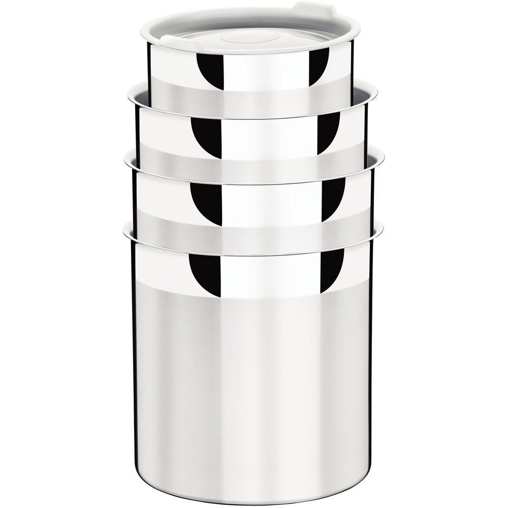 Conjunto de Potes Inox 4 Peças Cucina