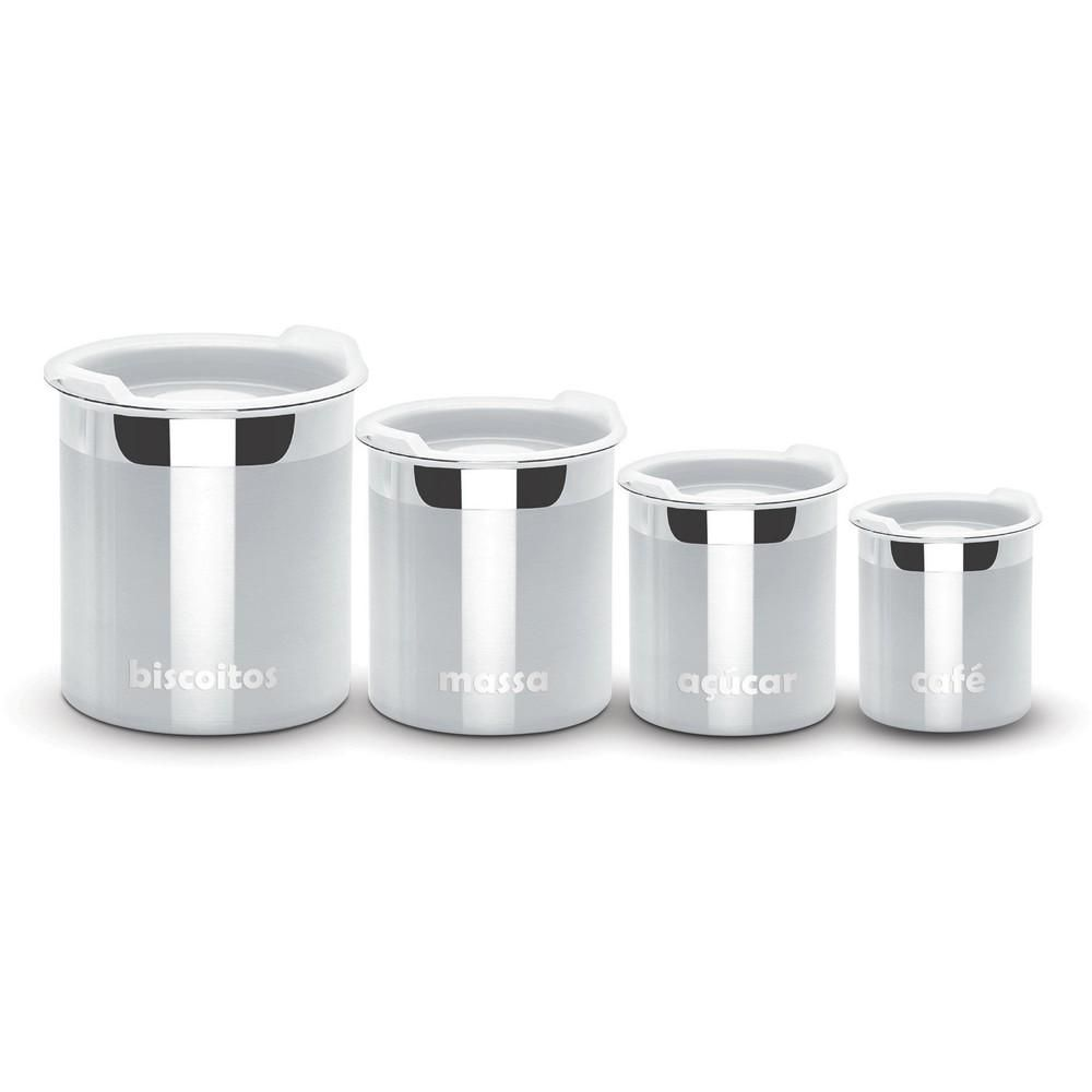 Conjunto de Potes Inox 4 Peças Cucina Tramontina