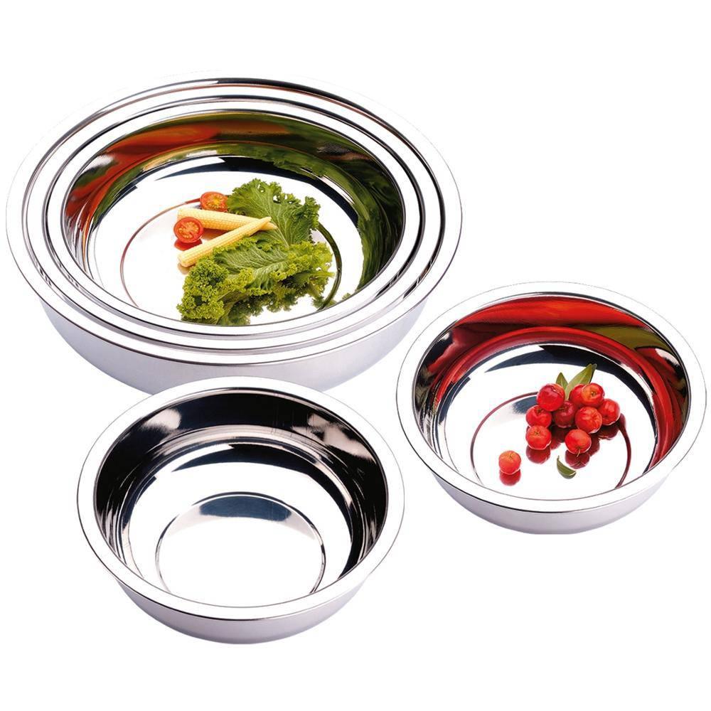 Conjunto de Tigela Bacias Bowls em Aço Inox 5 Peças Zanella