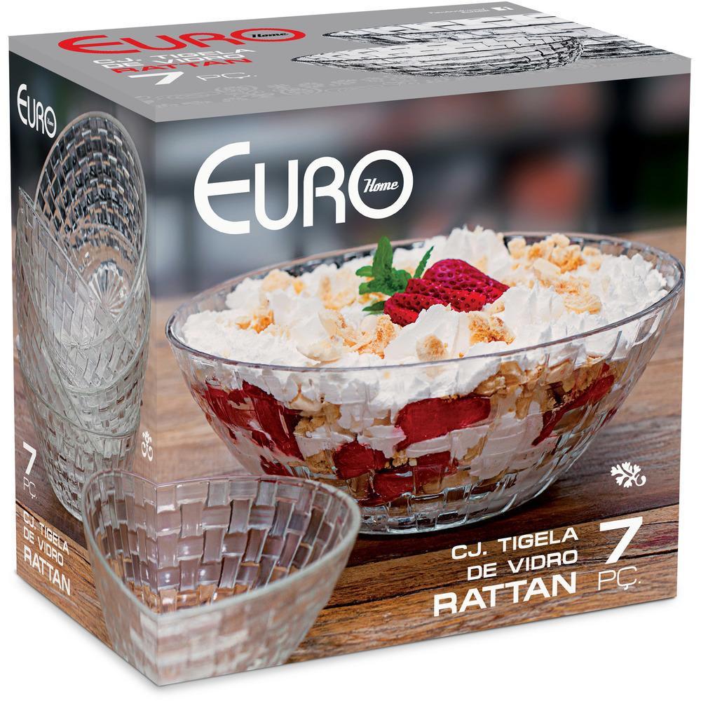 Conjunto de Tigelas Rattan 7 Peças Euro