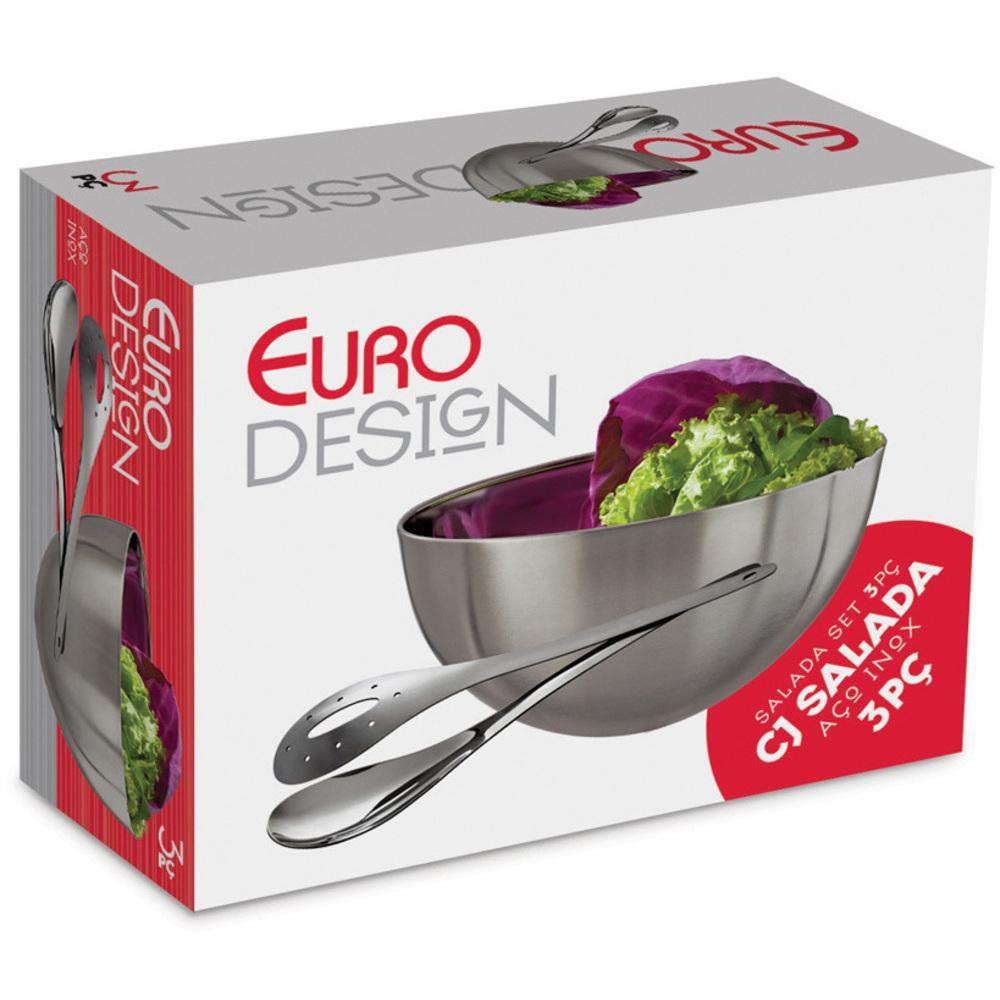 Conjunto Inox para Salada 3 Peças Euro