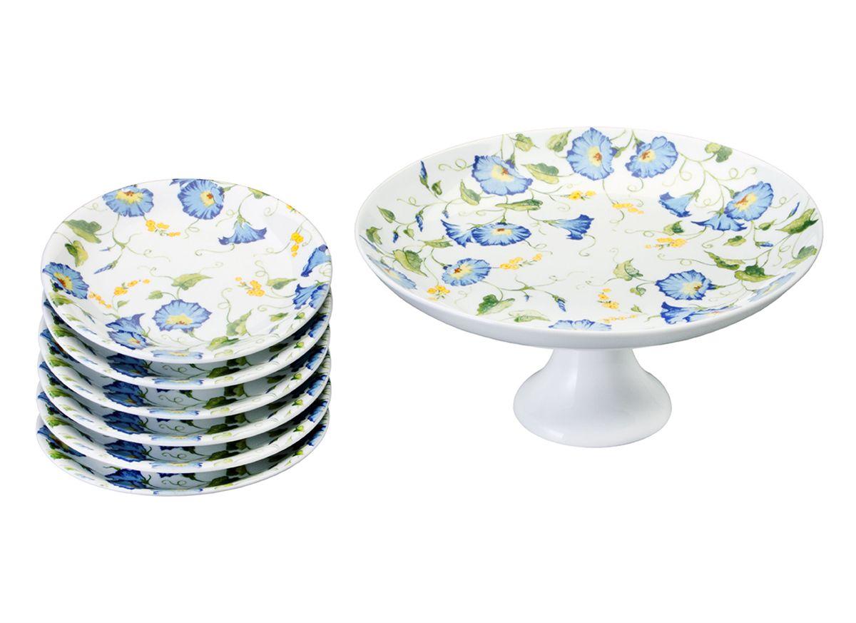 Conjunto para Bolo 7 Peças Porcelana Leonor Schmidt