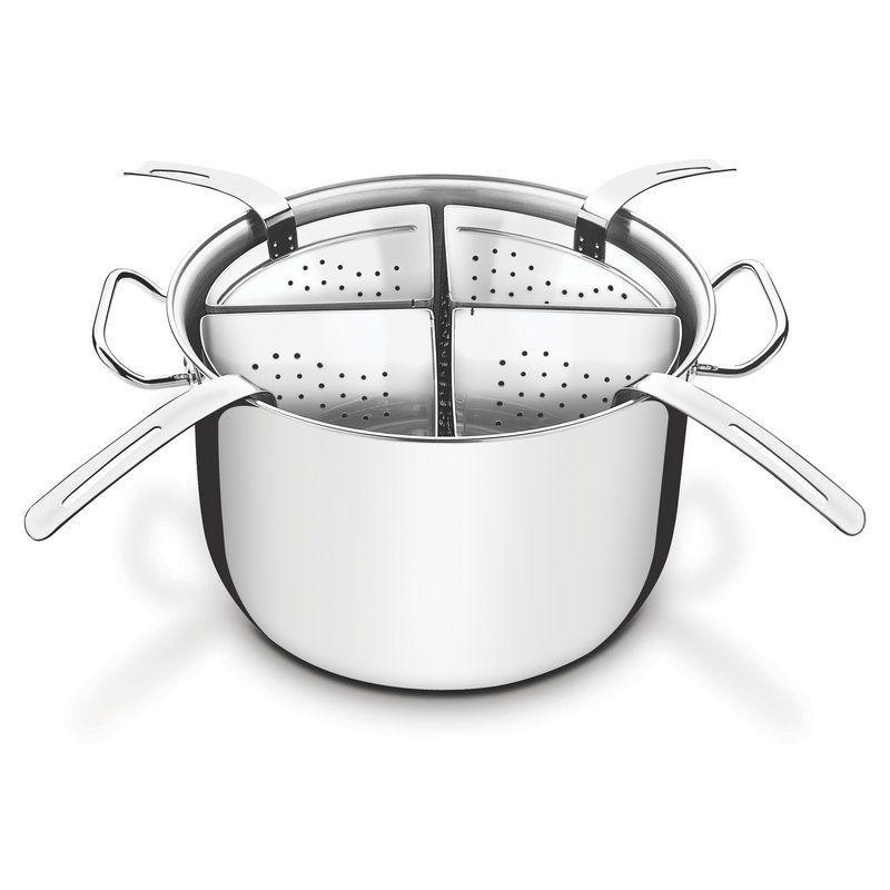 Cozi-Pasta Tramontina Inox Profissional com Fundo Triplo 5 Peças