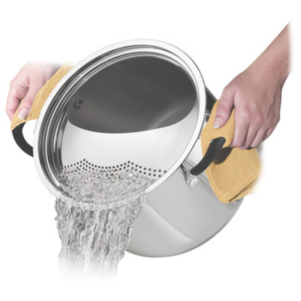 Espagueteira Aço Inox 24cm Solar Silicone