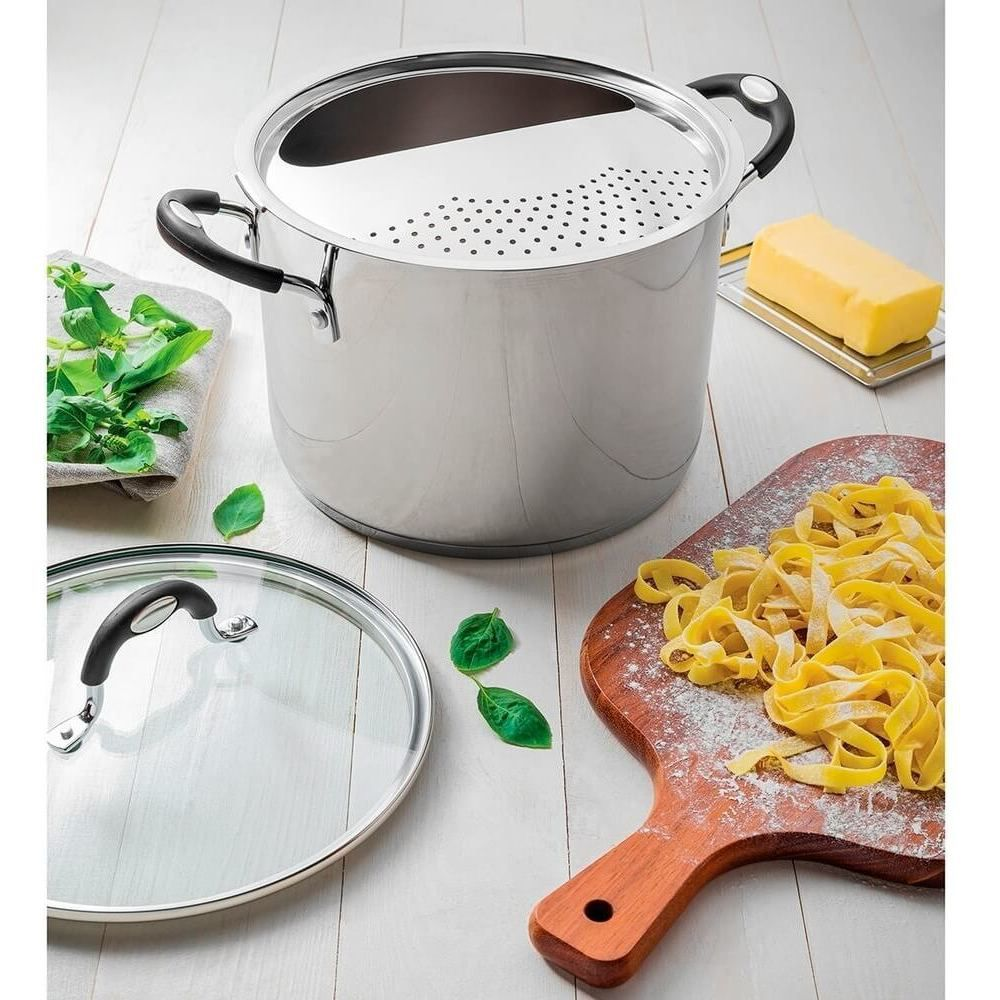 Espagueteira Tramontina Moderna para Indução 24cm Aço Inox