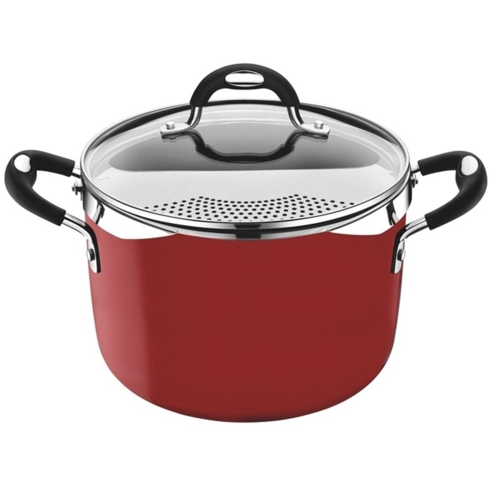 Espagueteira Tramontina Mônaco Indução 22cm Vermelho 5,4L