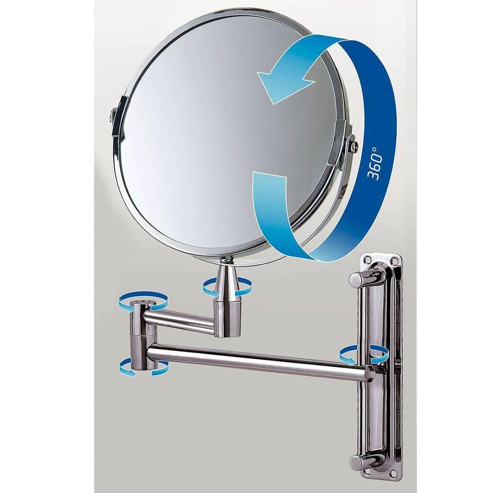 Espelho De Aumento Articulado Dupla Face Mor