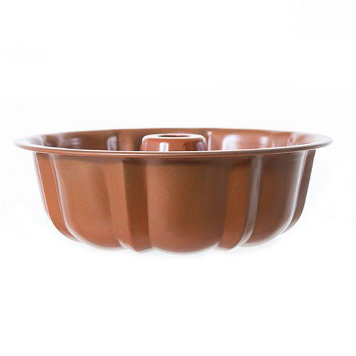 Forma de Flan e Pudim Mimo 6122 Bronze