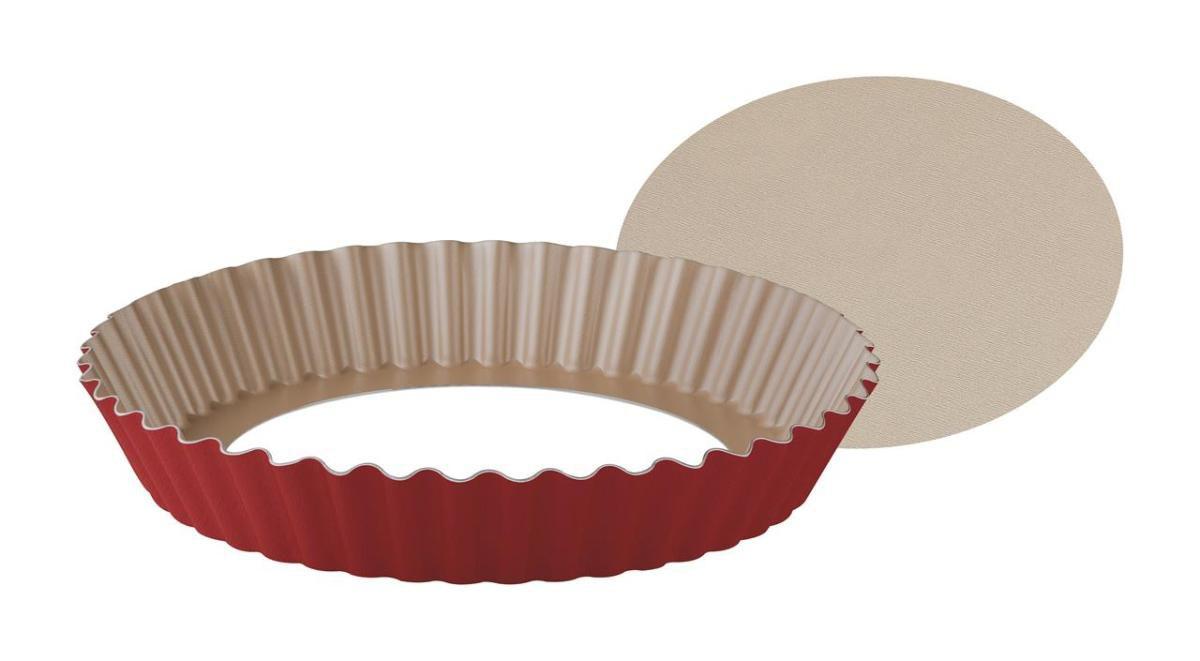 Forma Para Torta E Bolo Aluminio 24Cm Bordô 20064724