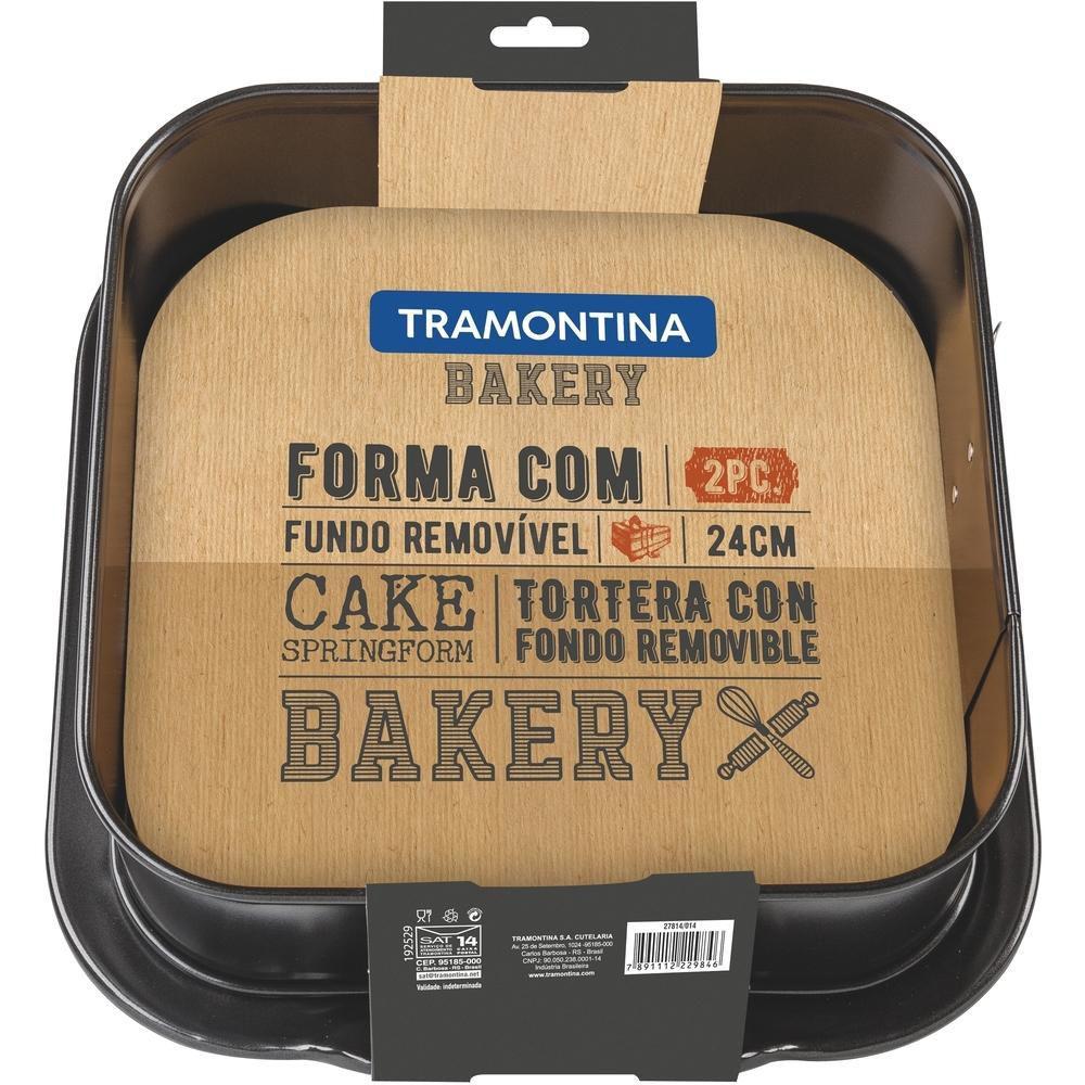 Forma Quadrada Com Fundo Removível 24cm Bakery Tramontina