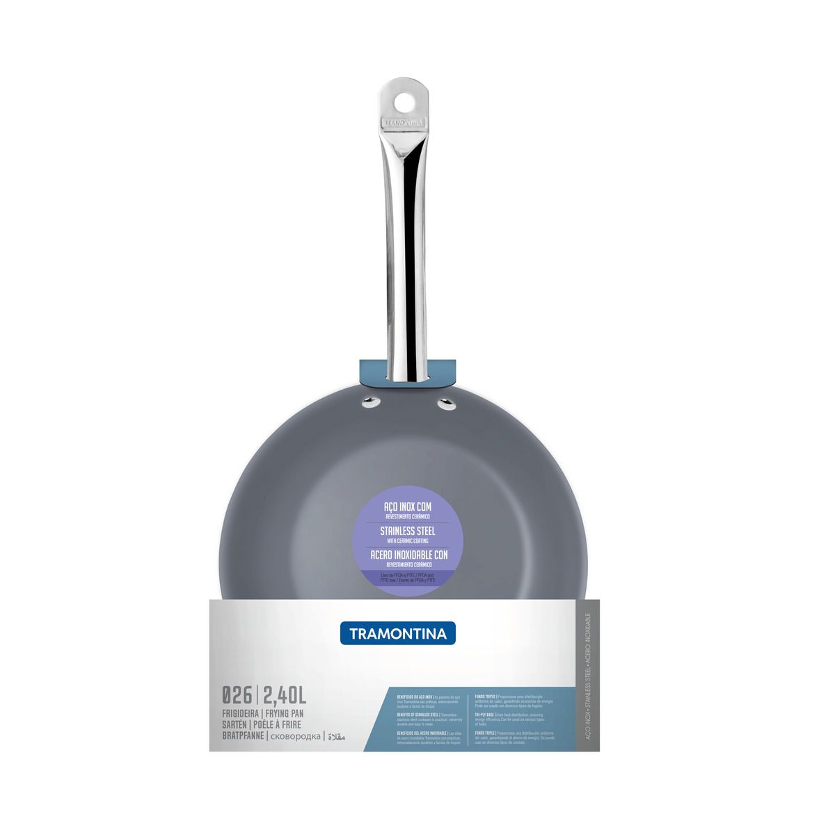 Frigideira Funda 26cm Cerâmica Professional