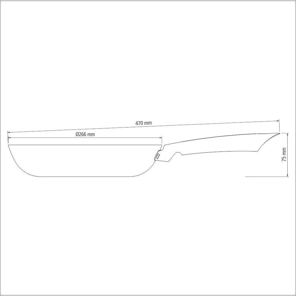 Frigideira Profissional Antiaderente Ferro 26cm