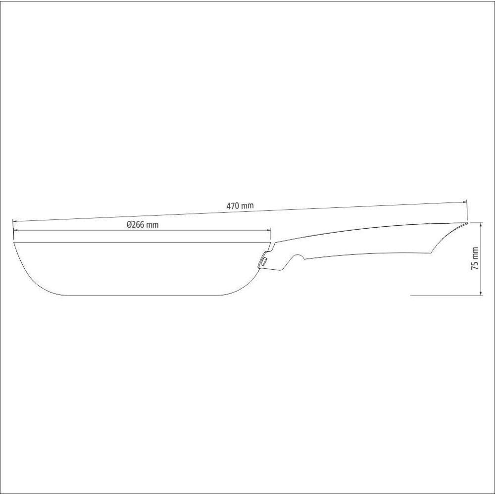 Frigideira Profissional Tramontina Antiaderente Ferro 26cm