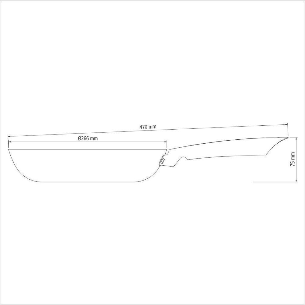 Frigideira Profissional Tramontina Antiaderente Ferro 30cm