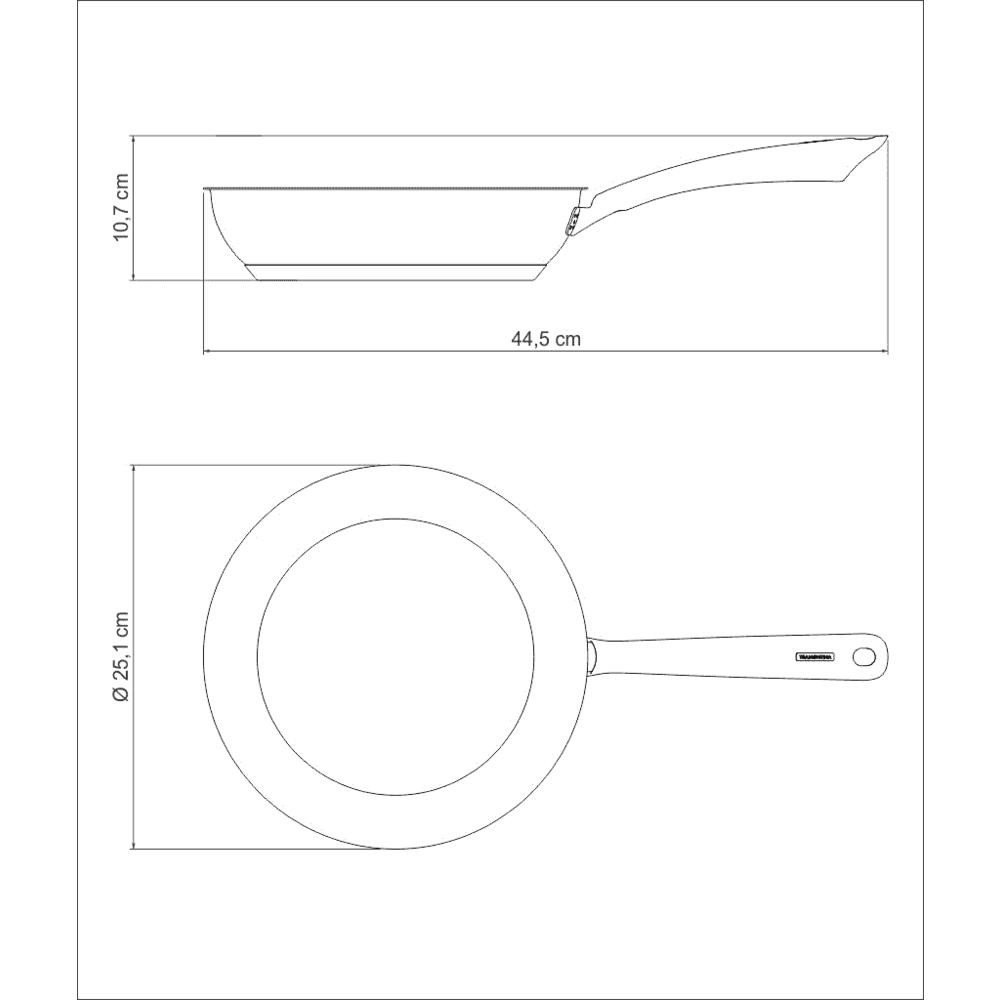 Frigideira Una e Fervedor Solar Tramontina para Fogão de Indução
