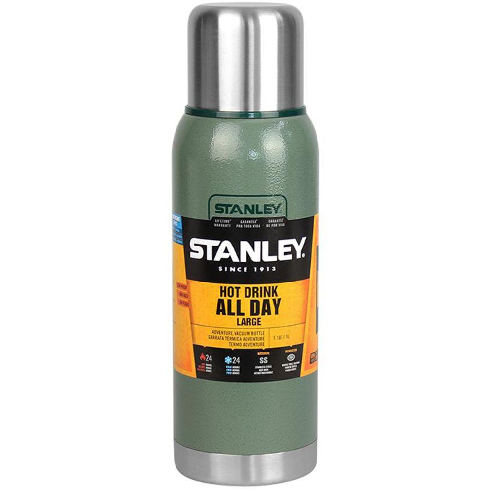 Garrafa Stanley para o Dia Todo Quente e Frio 1L Inox Verde
