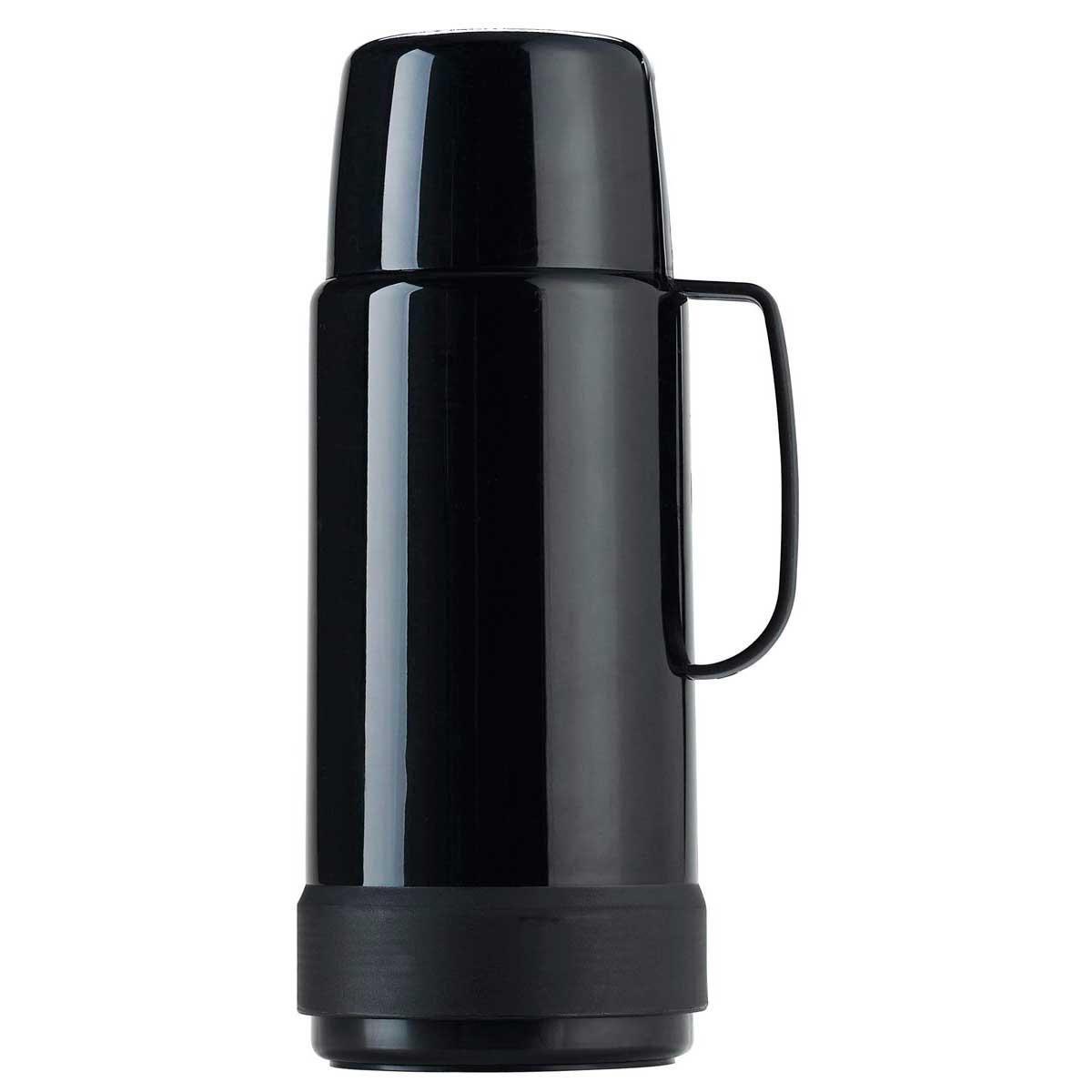 Garrafa Térmica Lisa GLT Rolha 1 litro - Invicta Preto