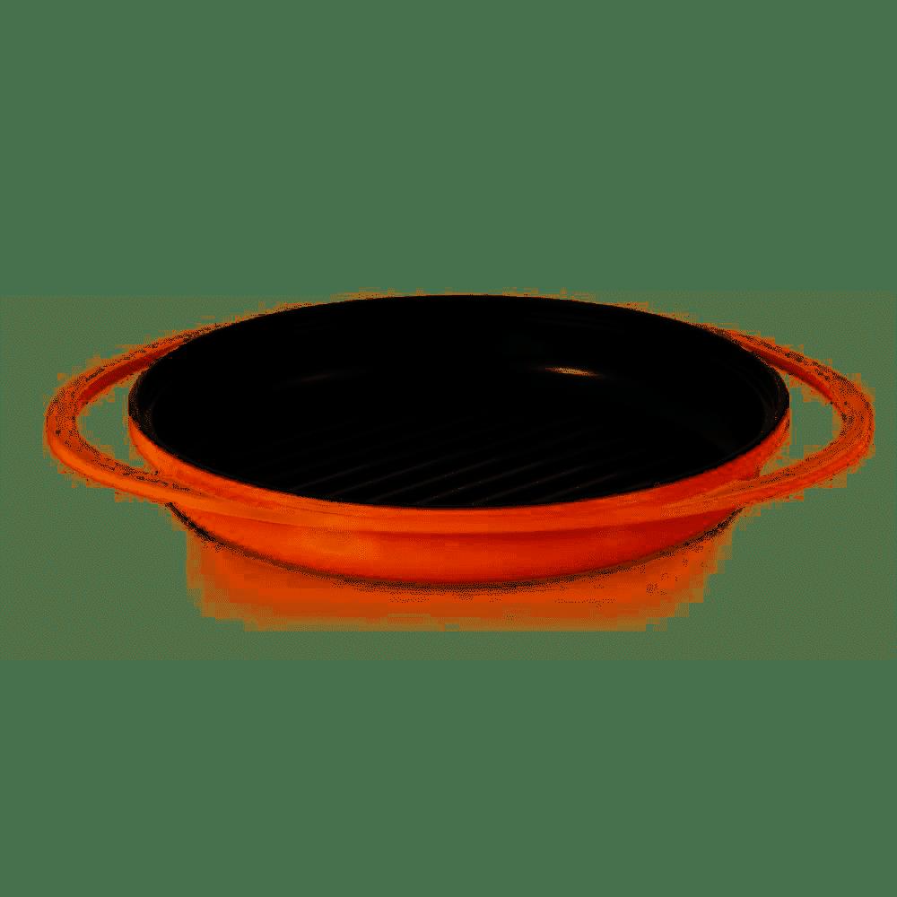 Grill com Revestimento Cerâmico Laranja 26cm Roichen