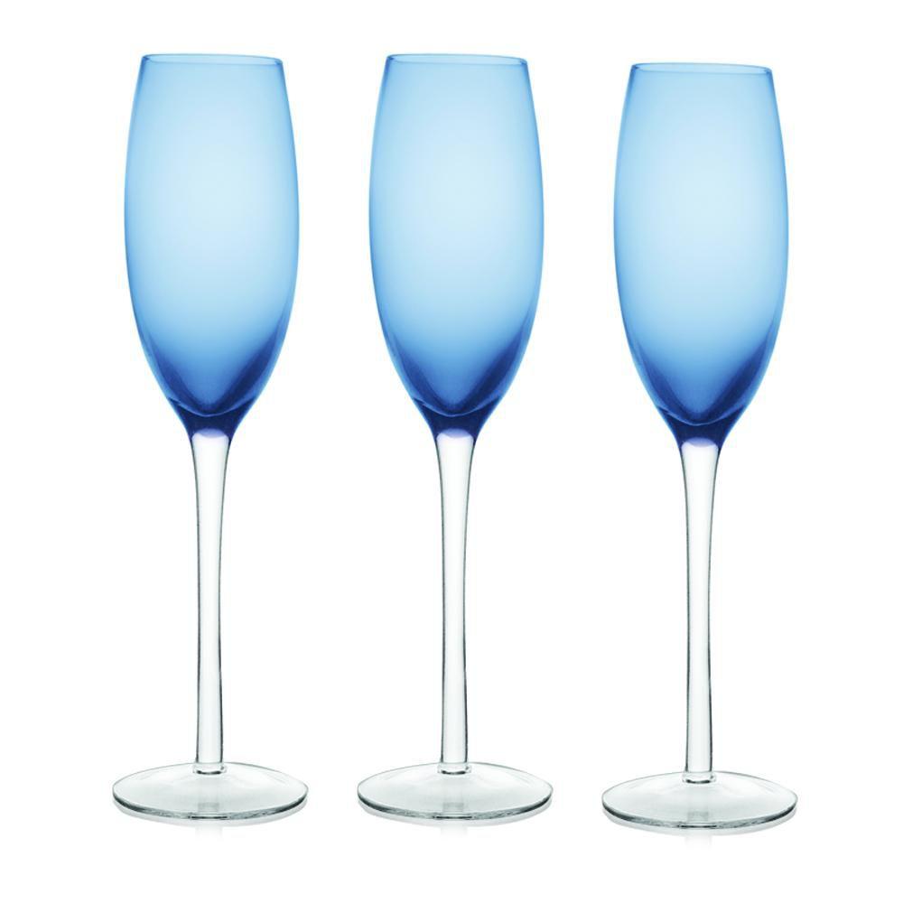 Jogo 6 Taças Champagne Azul Class Home