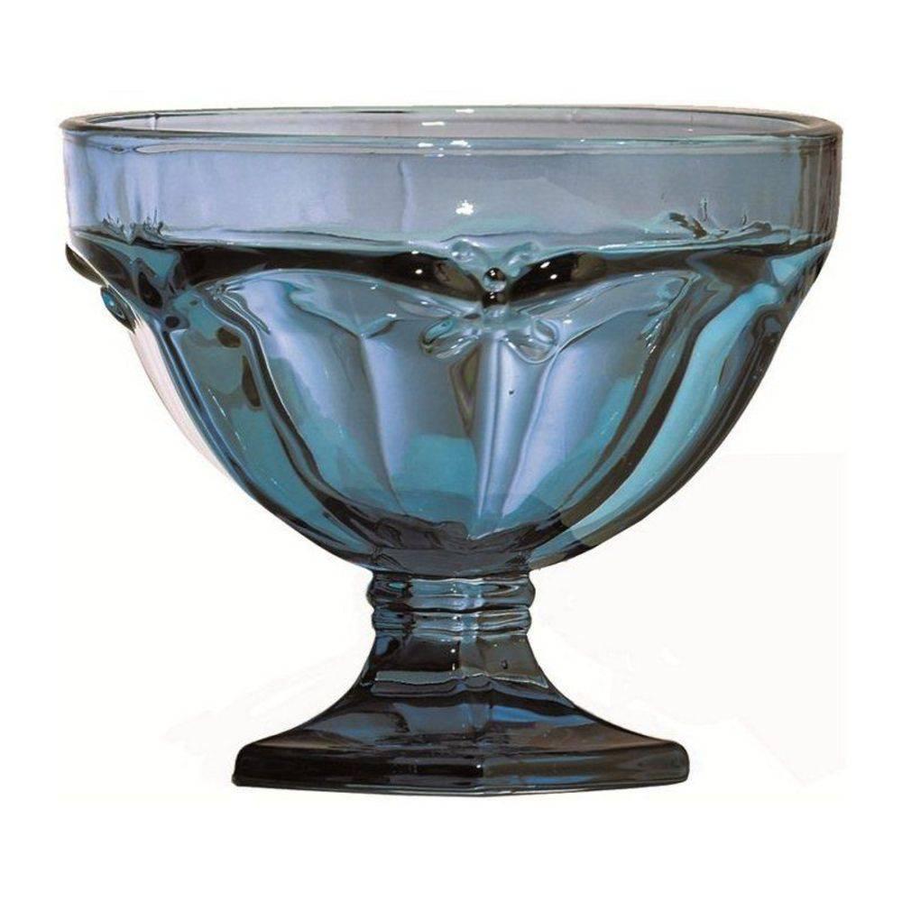 Jogo de 6 Taças em Vidro Azul 310ml Libélula Class Home
