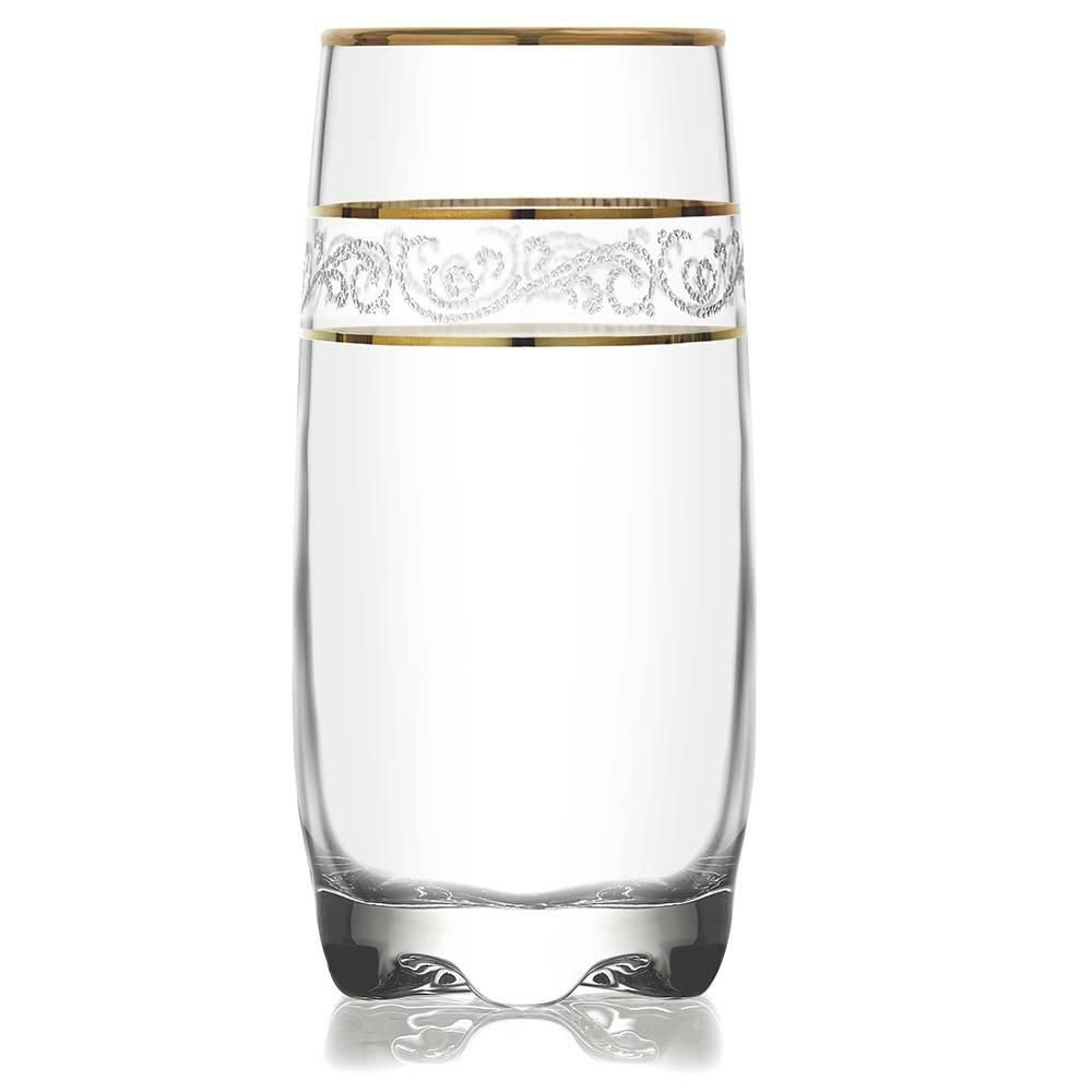 Jogo de Copos 390ml Long Drink Misket Sultan 6 Peças Mimo Style