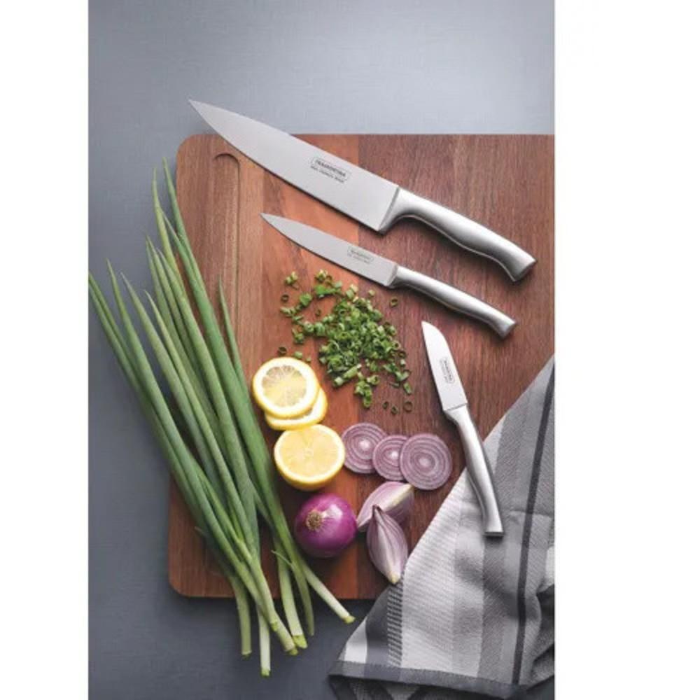 Jogo de Facas Gourmet Tramontina para Cozinha Cronos 3Pçs