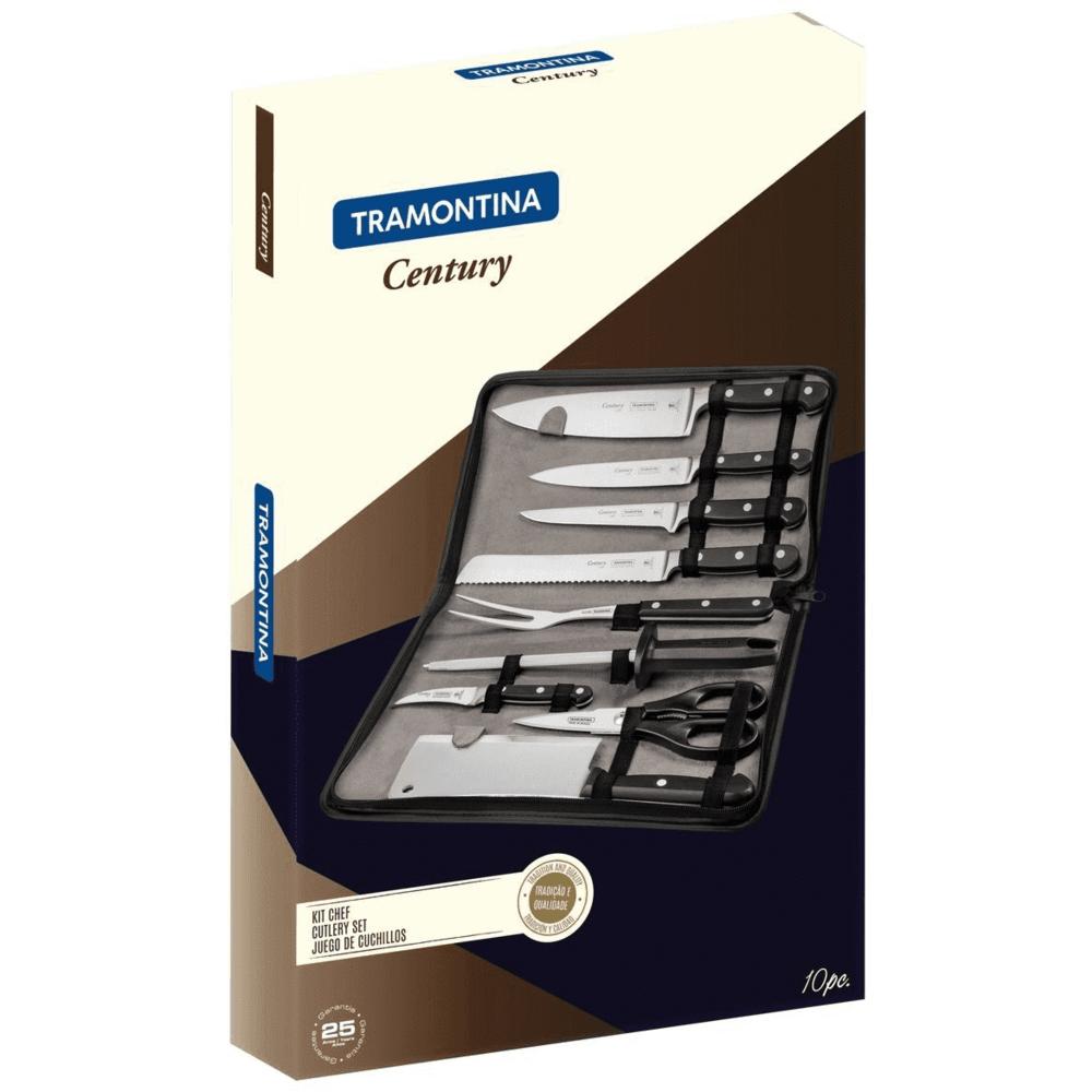Jogo de Facas para Chef de Cozinha Tramontina 10 Peças Inox