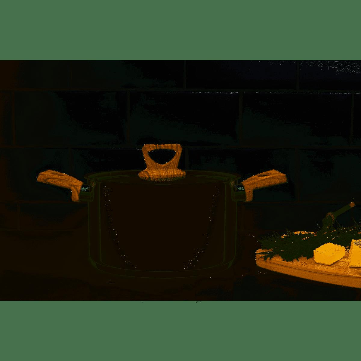 Jogo de Panelas Aço Inox 4 Peças Brava Antiaderente