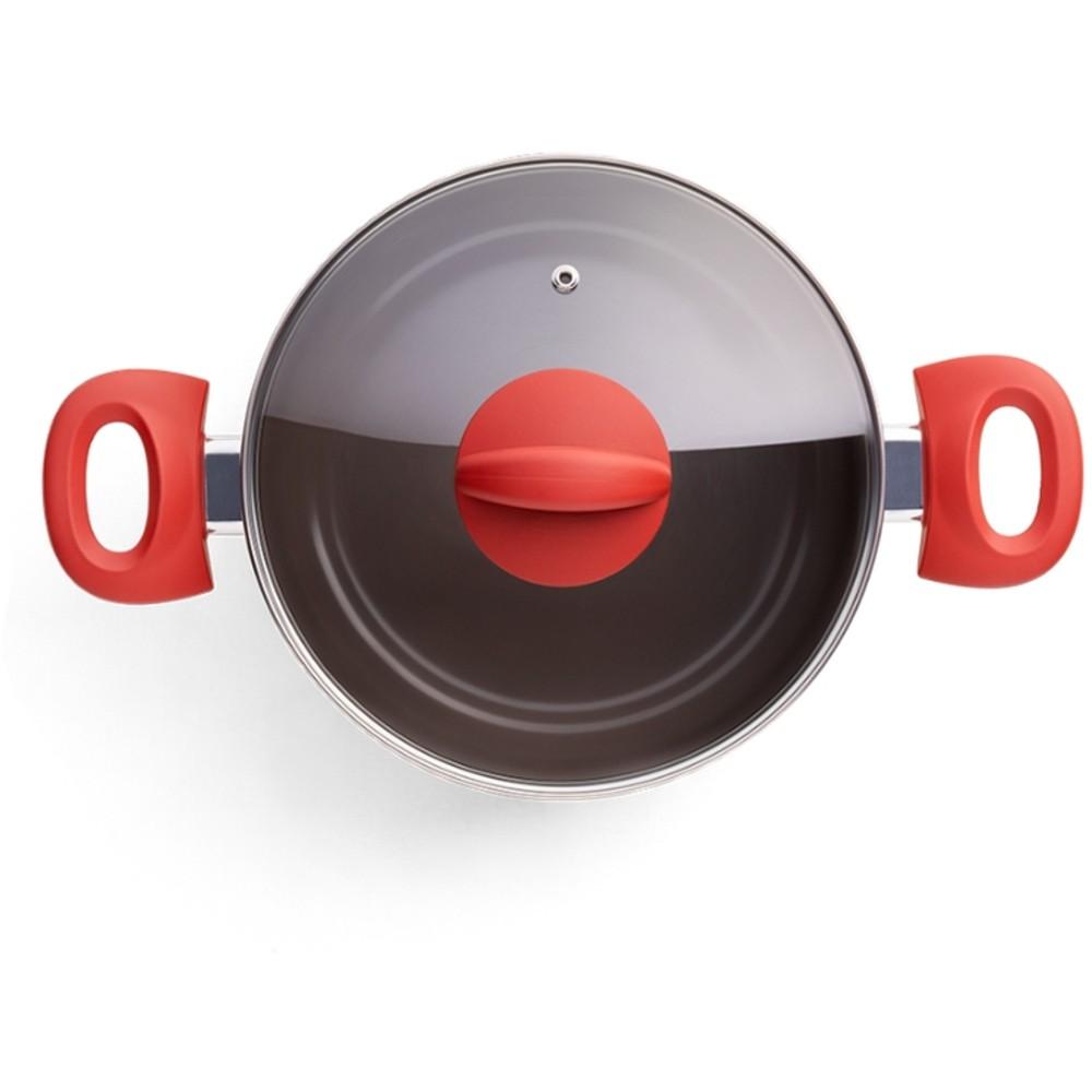 Jogo de Panelas Fogão Indução Revest Cerâmico Brinox 5 Peças
