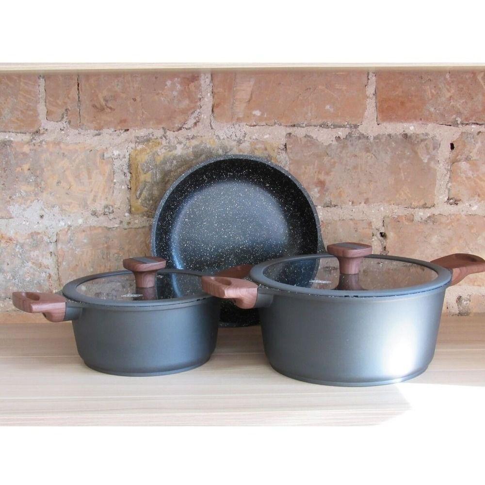 Jogo de Panelas Moderno para Cozinhas de Alto Padrão 3 Peças