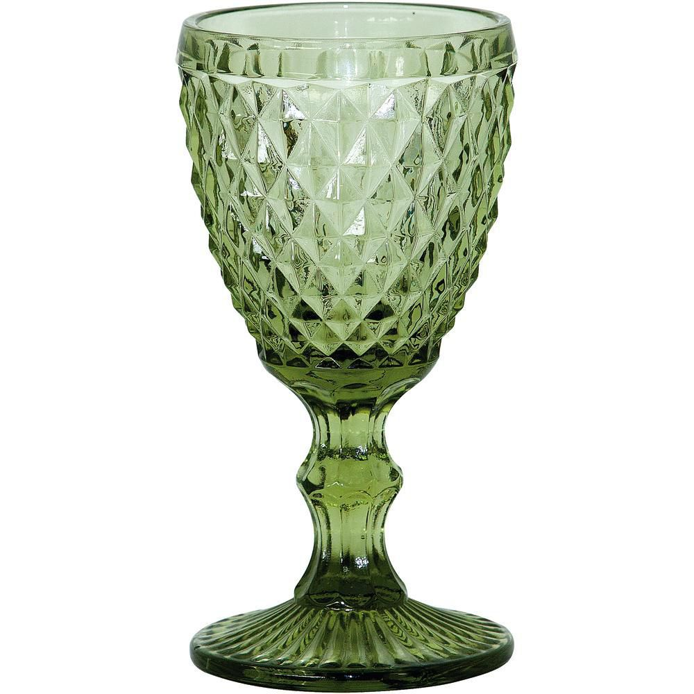 Jogo de Taças para Vinho 6 Peças Verde Mimo Style