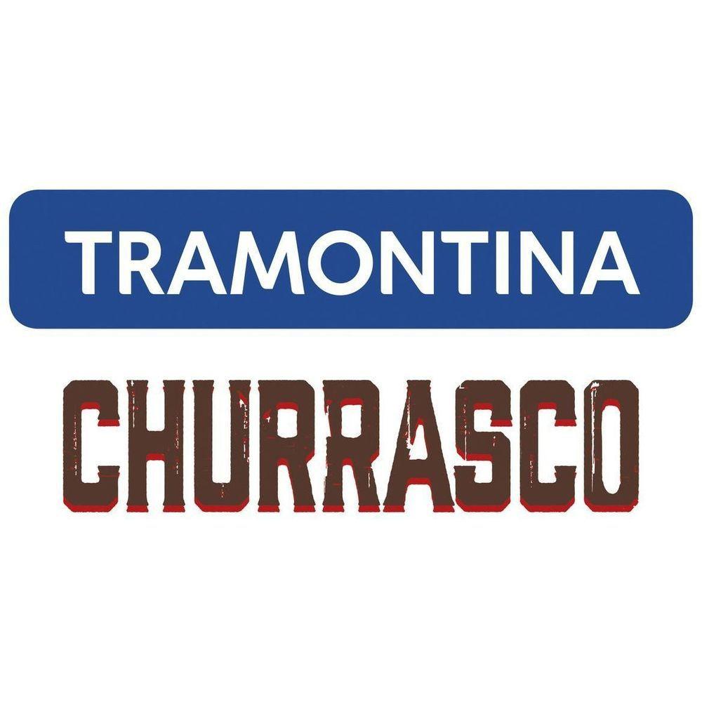 Jogo para Churrasco Tramontina 5 Peças com Cepo Inox/Madeira