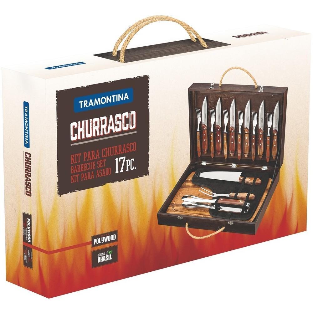 Kit para Churrasco 17 Peças Polywood Tramontina