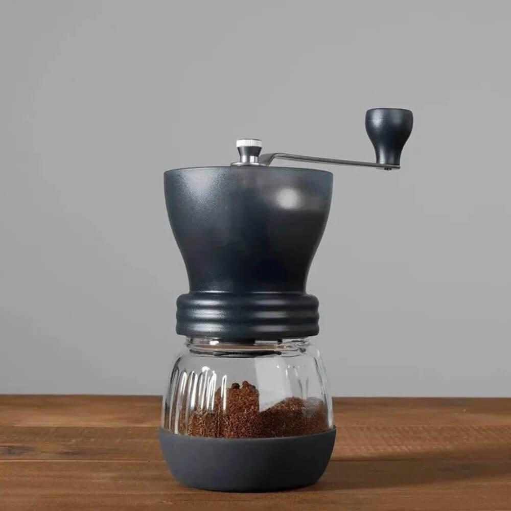 Moedor de Café Manual com Núcleo Cerâmico e Pote de Vidro