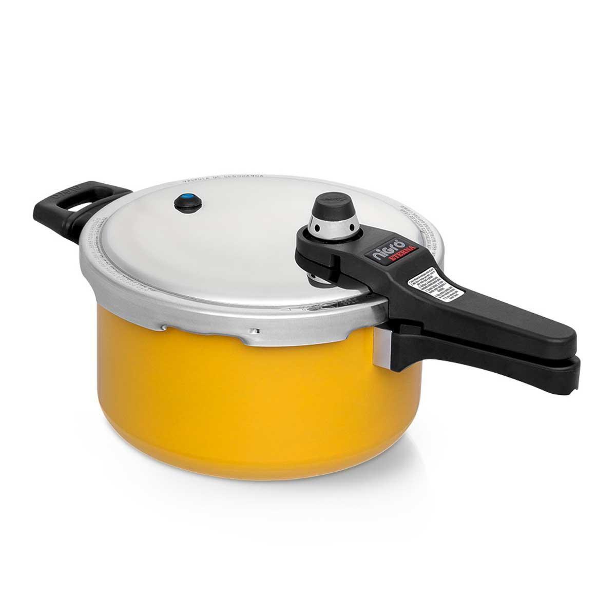 Panela de Pressão 4,5 litros Nigro Amarelo